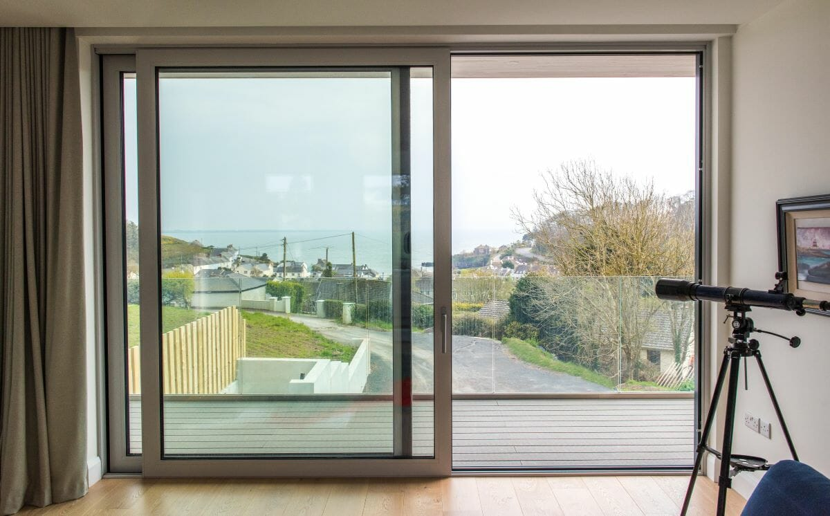 Dunmore East, Co.Waterford, Schuco Passive House Certified Windows AWS 90.SI, Alu-Clad Windows, Alu-Clad Lift & Slide Doors, Contemporary Front Doors